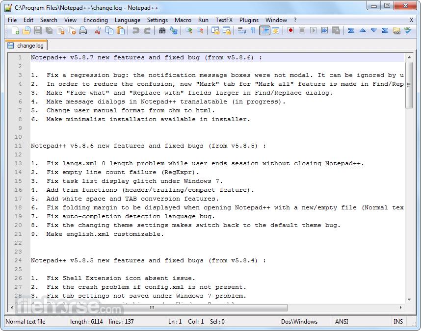 Notepad++7.5.9